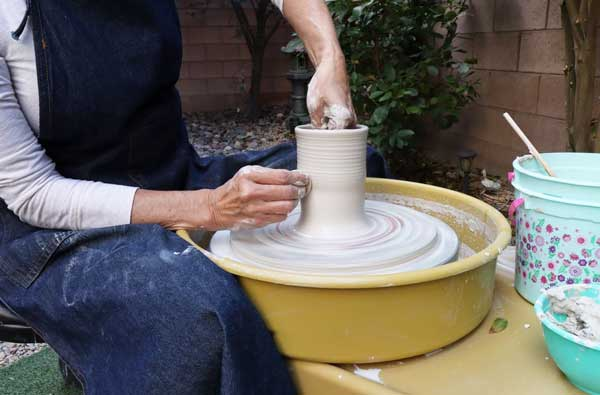 Start Shaping the Mold on the Wheel