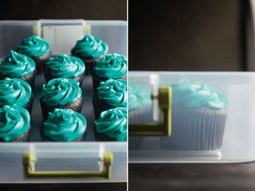 Freeze Frosted Cupcakes